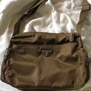 AUTHENTIC Prada Brown Nylon Crossbody Bag